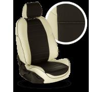 Чехлы из экокожи для Opel Frontera цвет бело-чёрный