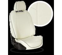 Чехлы из экокожи для Mitsubishi Lanser 10 цвет белый
