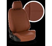 Чехлы из экокожи для Nissan Qashqai (2006-2021) цвет коричневый