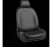 Авточехлы для Mitsubishi Lanser 10 в дизайне ромб чёрный цвет