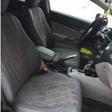 Чехлы на сиденья в дизайне ромб для Honda Civic Sedan IX (американская сборка)
