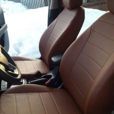 Однотонные коричневые чехлы для Hyundai Creta