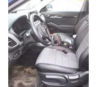 Авточехлы на Kia Seltos чёрно-серый