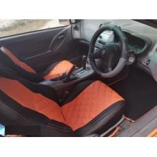 Авточехлы в дизайне ромб для Toyota Celica