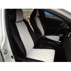 Чехлы на сиденья Toyota C-HR в дизайне ромб