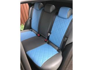 Nissan Qashqai 2017 - Серый/синий перф ромб